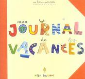 Mon journal de vacances ; un livre-activités - Intérieur - Format classique