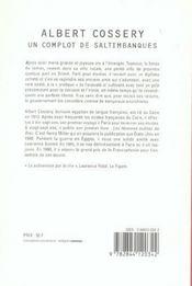 Un complot de saltimbanques - 4ème de couverture - Format classique