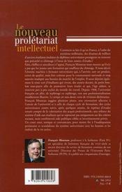 Le nouveau prolétariat intellectuel - 4ème de couverture - Format classique
