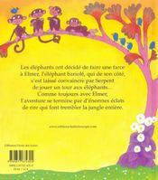 Elmer et serpent - 4ème de couverture - Format classique