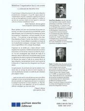 Mobiliser l'organisation face a son avenir la demarche prospective - 4ème de couverture - Format classique