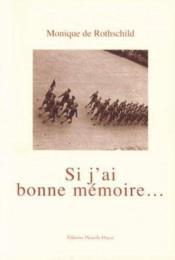 Si J'Ai Bonne Memoire - Couverture - Format classique