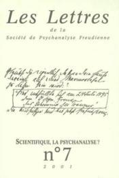 Revue Les Lettres De La Spf N 7 2001 - Scientifique La Psychanalyse - Couverture - Format classique