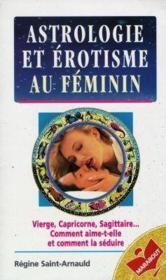 Erotisme Et Astrologie Au Feminin - Couverture - Format classique