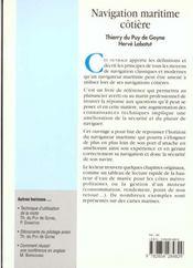 Navigation maritime cotiere - 4ème de couverture - Format classique
