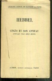 Gyges Et Son Anneau (Gyges Und Sein Ring) / Collection Bilingue Des Classiques Etrangers - Couverture - Format classique