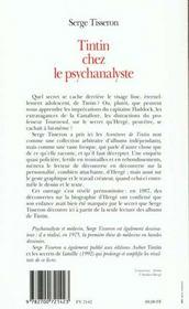 Tintin chez le psychanalyste - 4ème de couverture - Format classique