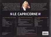 Le Capricorne - 4ème de couverture - Format classique