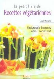 Le petit livre des recettes végétariennes - Intérieur - Format classique