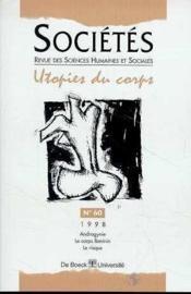 Societes 98/2 utopies du corps - Couverture - Format classique