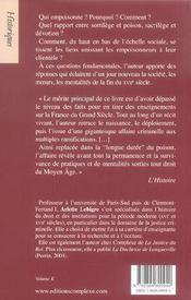 L'affaire des poisons 1679-1682 - 4ème de couverture - Format classique