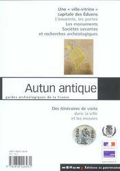Autun antique - 4ème de couverture - Format classique