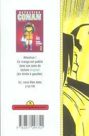 Détective Conan T.45 - 4ème de couverture - Format classique