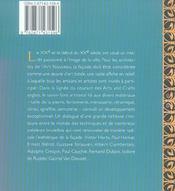 La facade art nouveau de bruxelles - artisans et metiers - 4ème de couverture - Format classique