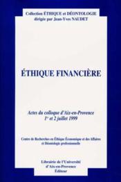 Ethique financiere - Couverture - Format classique