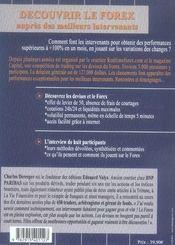 Decouvrir Le Forex Aupres Des Meilleures Intervenants. Interview Des Participants Au Jeu Organise - 4ème de couverture - Format classique