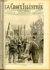 LA CROIX ILLUSTREE N° 82 - Troisième année - Manifestation patriotiques devant la statue de Strasbourg, sur la place de la Concorde, le 14 juillet (dessin d'Arnould-Moreau). - Couverture - Format classique