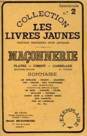 Maconnerie - Platre, Ciment, Carrelage - Couverture - Format classique