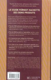 Le Guide Ferniot Hachette Des Bons Produits - 4ème de couverture - Format classique