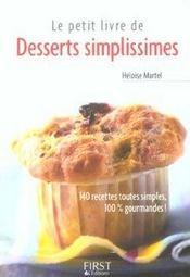 Le petit livre de desserts simplissimes - Intérieur - Format classique