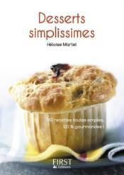 Le petit livre de desserts simplissimes - Couverture - Format classique