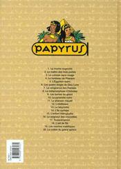 Papyrus t.3 ; le colosse sans visage - 4ème de couverture - Format classique