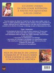 Le Grand Livre Des Chiens - 4ème de couverture - Format classique