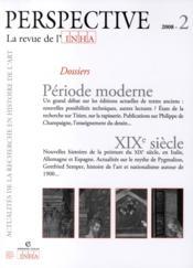 PERSPECTIVE - REVUE DE L'INHA N.2 ; période moderne ; XIX siècle ; 2008/2 - Couverture - Format classique
