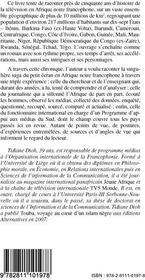 Histoire de la télévision en Afrique noire francophone ; des origines à nos jours - 4ème de couverture - Format classique
