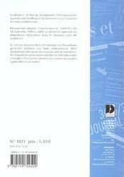 Baux commerciaux - 4ème de couverture - Format classique