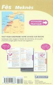 Voyager Pratique ; Fès, Meknès - 4ème de couverture - Format classique