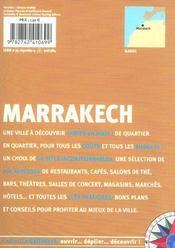 Marrakech - 4ème de couverture - Format classique