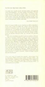 Notes De Travail - 4ème de couverture - Format classique