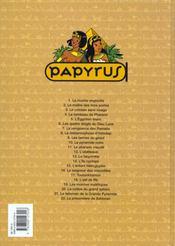 Papyrus t.4 ; le tombeau de pharaon - 4ème de couverture - Format classique