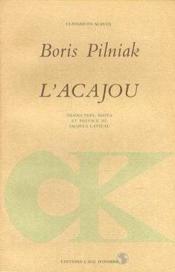 L'Acajou - Couverture - Format classique