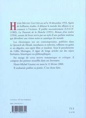 Inventaire - poemes - 4ème de couverture - Format classique