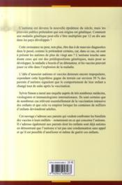 Autisme Et Vaccination ; Responsable Mais Pas Coupable ! - 4ème de couverture - Format classique