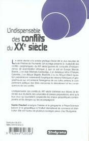 Indispensable des conflits du xxieme siecle (reedition) - 4ème de couverture - Format classique