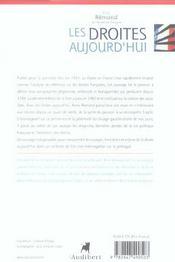 Droites Aujourd'Hui (Les) - 4ème de couverture - Format classique