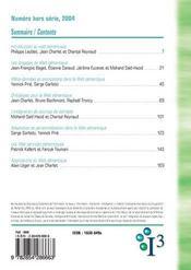 REVUE I3 HORS-SERIE ; le Web sémantique - 4ème de couverture - Format classique