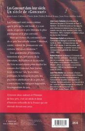 Les goncourt dans leur siecle - 4ème de couverture - Format classique