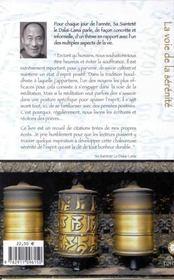 Voie De La Serenite - Meditations Quotid. - 4ème de couverture - Format classique