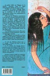 Les thebaines t.4 ; l'ombre du prince - 4ème de couverture - Format classique