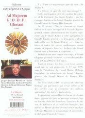 Ad majorem godf gloriam - 4ème de couverture - Format classique
