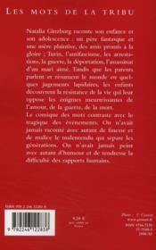 Les mots de la tribu - 4ème de couverture - Format classique