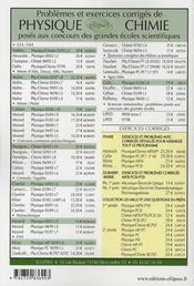 Problèmes corrigés ; chimie ; concours communs polytechniques 2006-2007 t.11 - 4ème de couverture - Format classique