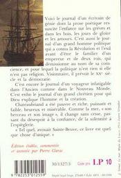 Mémoires d'outre-tombe t.1 - 4ème de couverture - Format classique