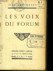 Les Voix du Forum. - Couverture - Format classique