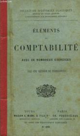 Elements De Comptabilite, Avec De Nombreux Exercices - Couverture - Format classique