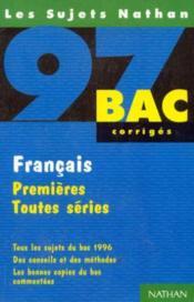 Francais Premieres Toutes Series - Couverture - Format classique